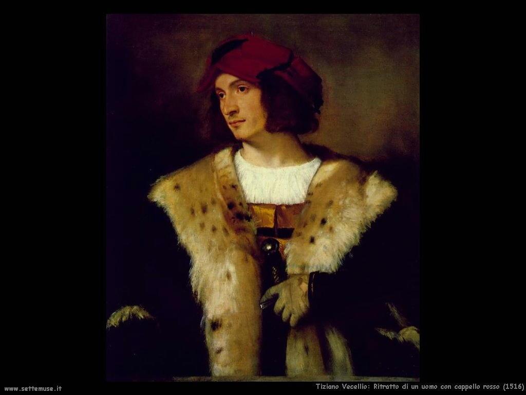 Ritratto di un uomo con cappello rosso (1516)