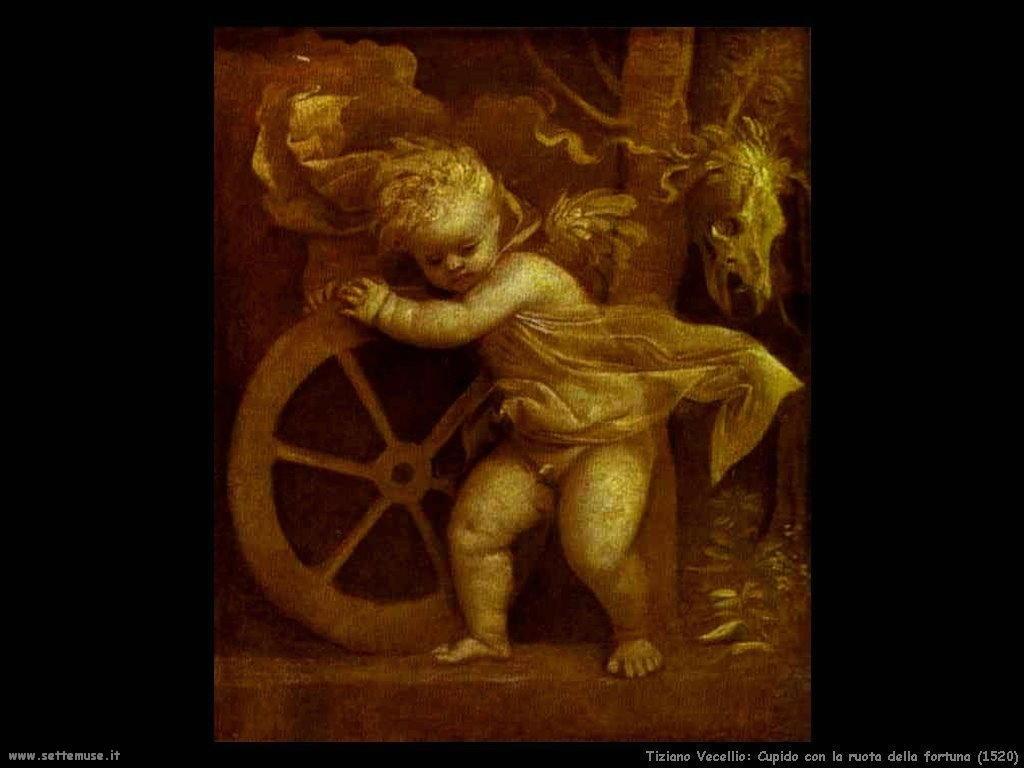 Cupido con la ruota della fortuna (1520)
