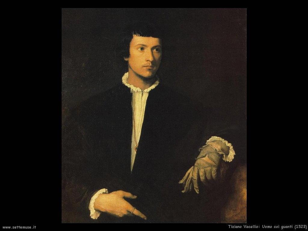 Tiziano Vecellio Uomo con i guanti (1523)