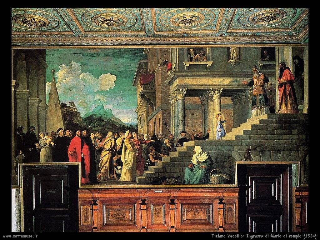 Ingresso di Maria al tempio (1534)
