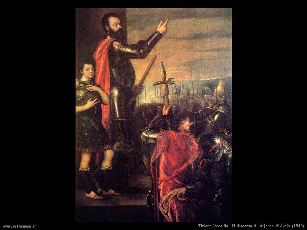 Tiziano Vecellio Discorso di Alfonso d'Avalo (1540)