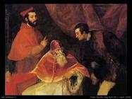 Tiziano Vecellio Papa Paolo III e nipoti (1546)