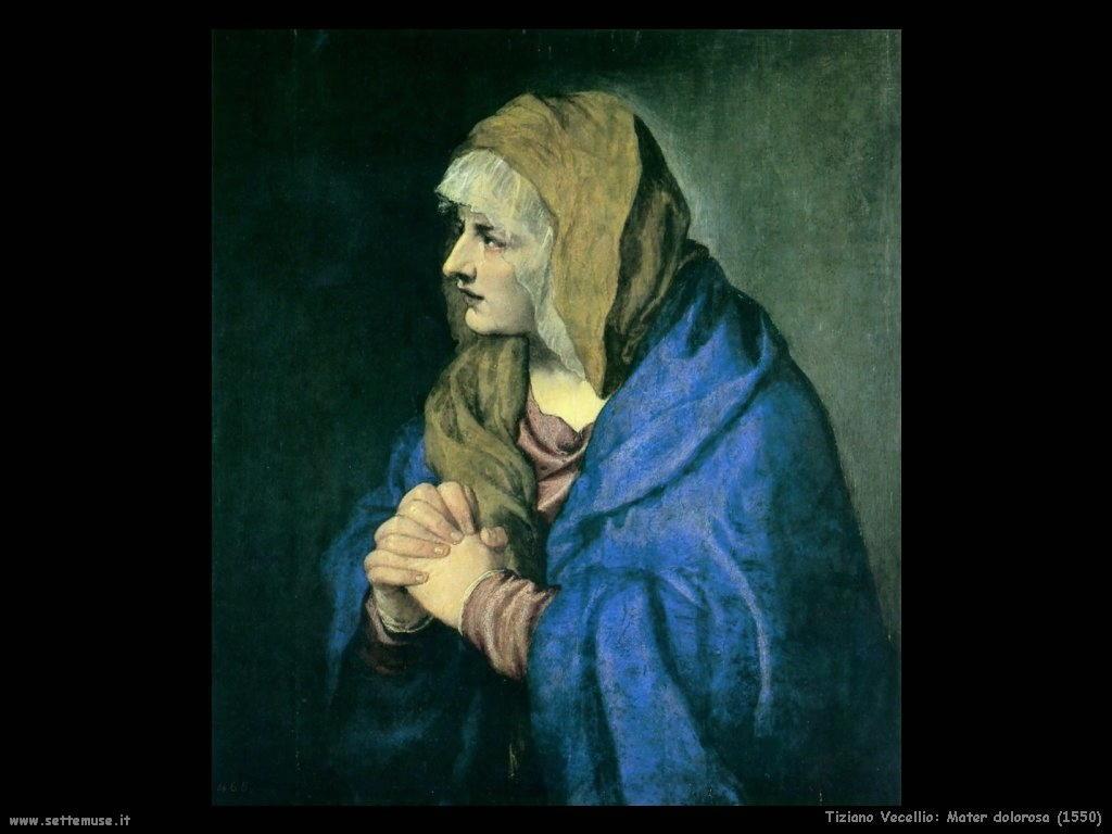 Tiziano Vecellio Mater dolorosa (1550)