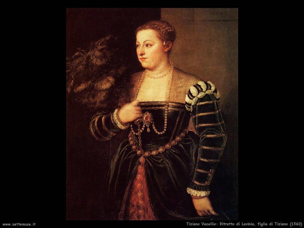 Tiziano Vecellio Lavinia figlia di Tiziano (1560)