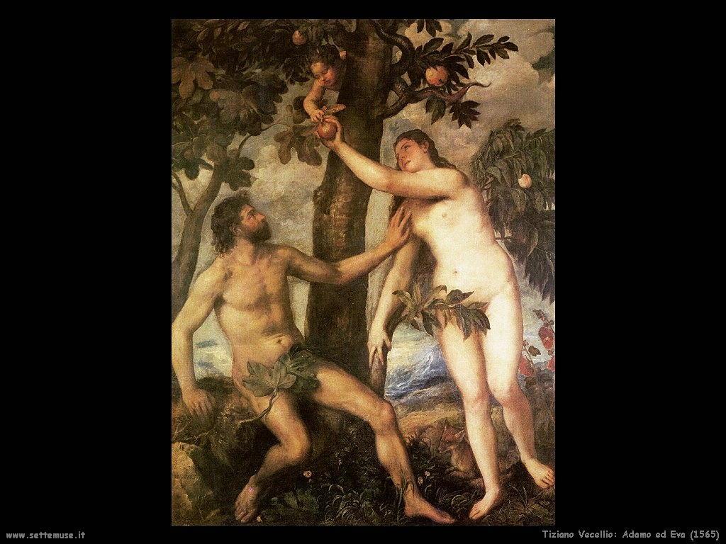 Tiziano Vecellio Adamo ed Eva (1565)