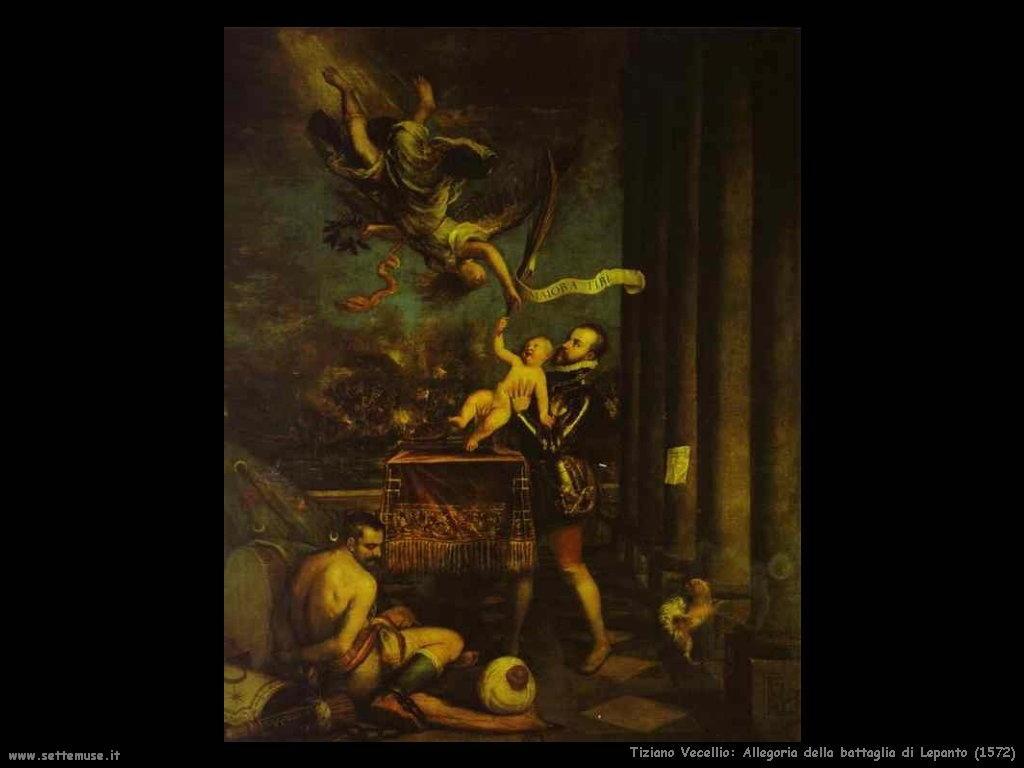 Tiziano Vecellio Allegoria della battaglia di Lepanto (1572)