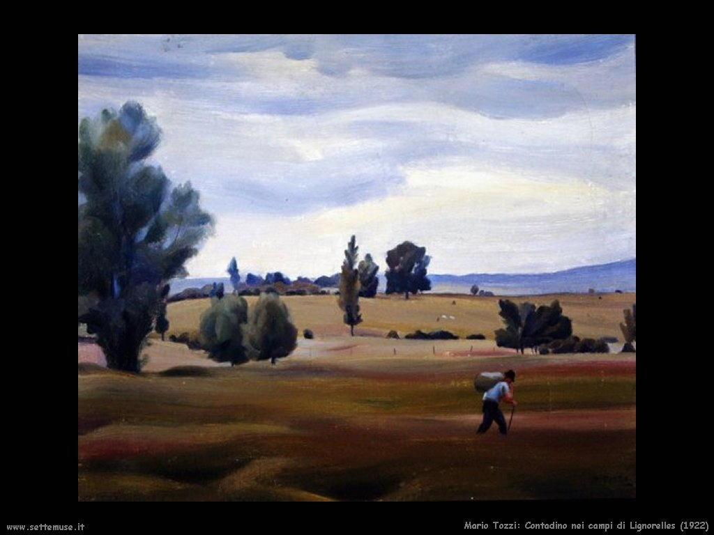 Mario Tozzi Contadino nei campi di Lignorelles (1922)