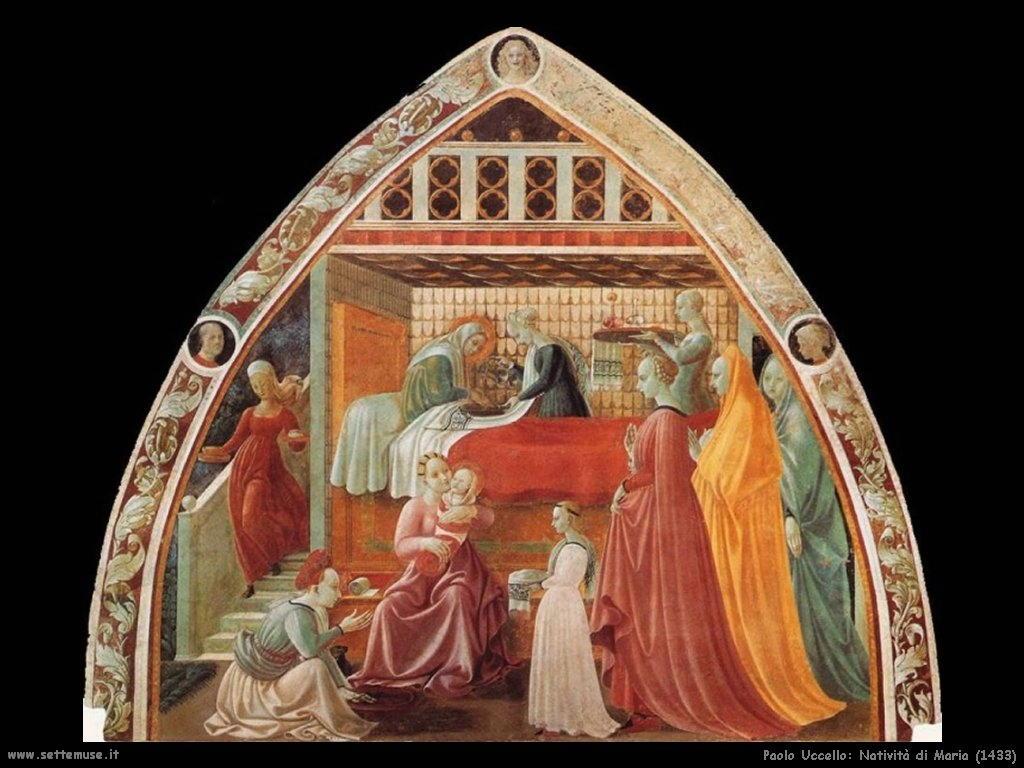 Paolo Uccello  natività di Maria 1433