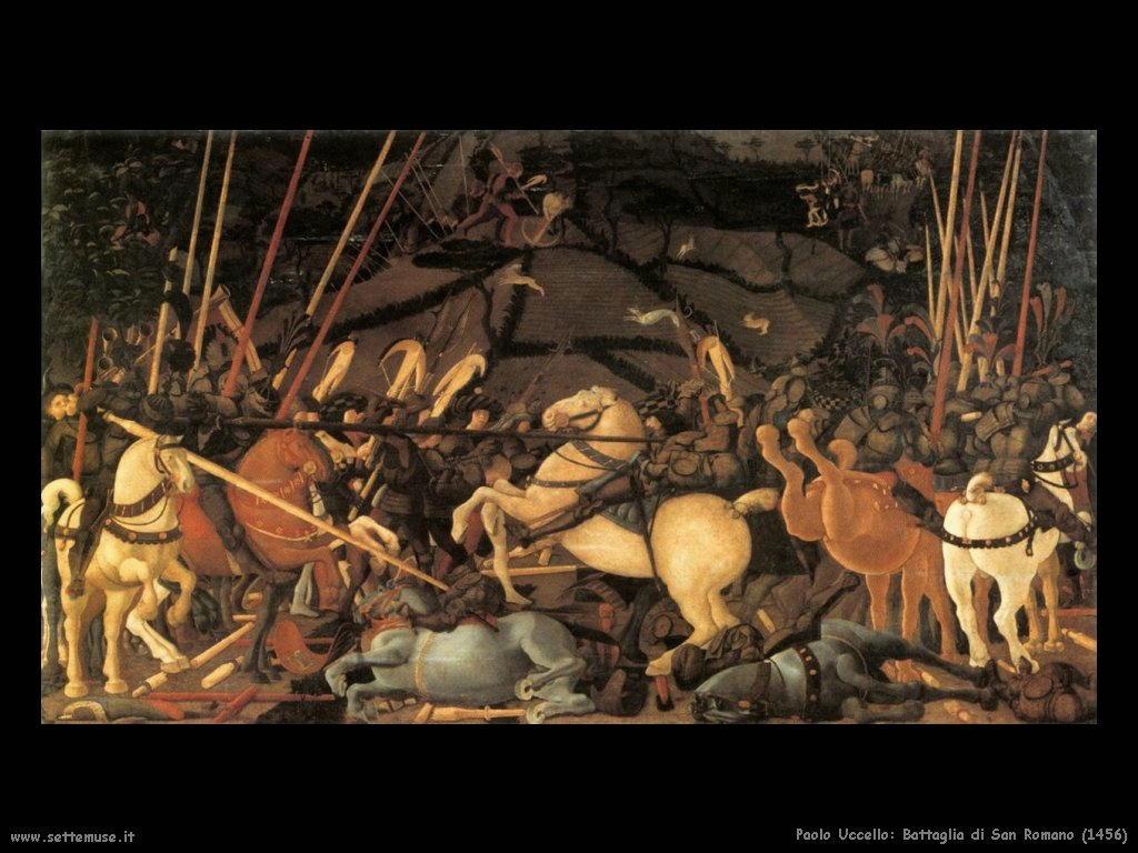 Paolo Uccello La battaglia di San Romano(1456)