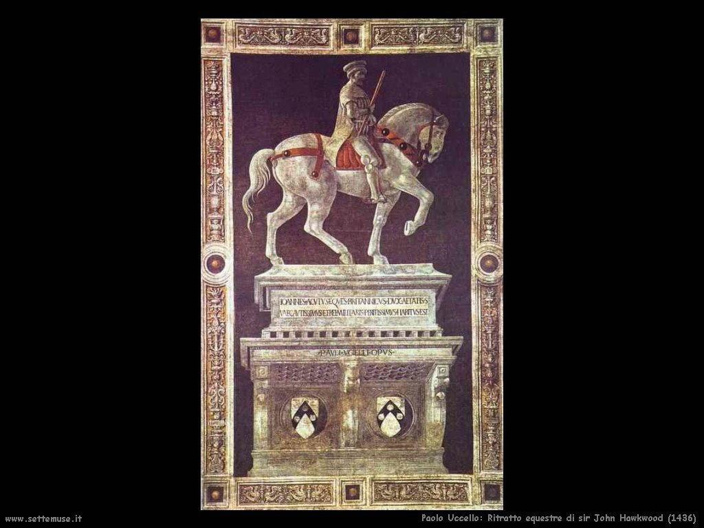 Paolo Uccello Ritratto equestre a Giovanni Acuto (1436)
