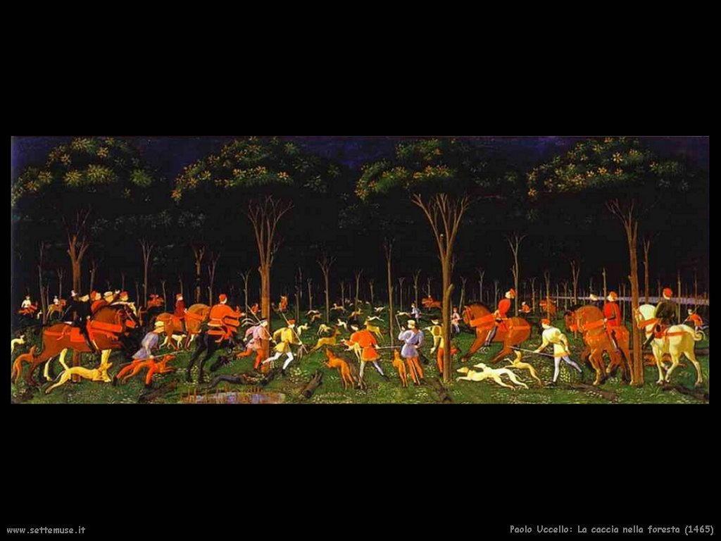 Paolo Uccello La caccia nella foresta (1465)