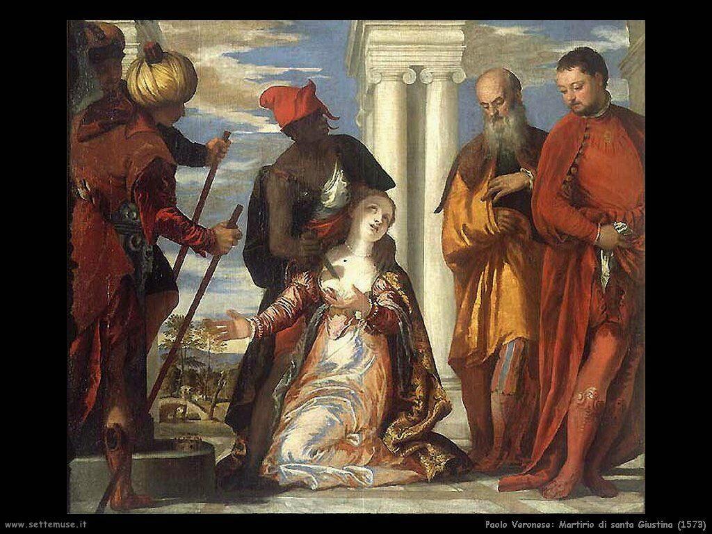 Martirio di santa Giustina (1573)