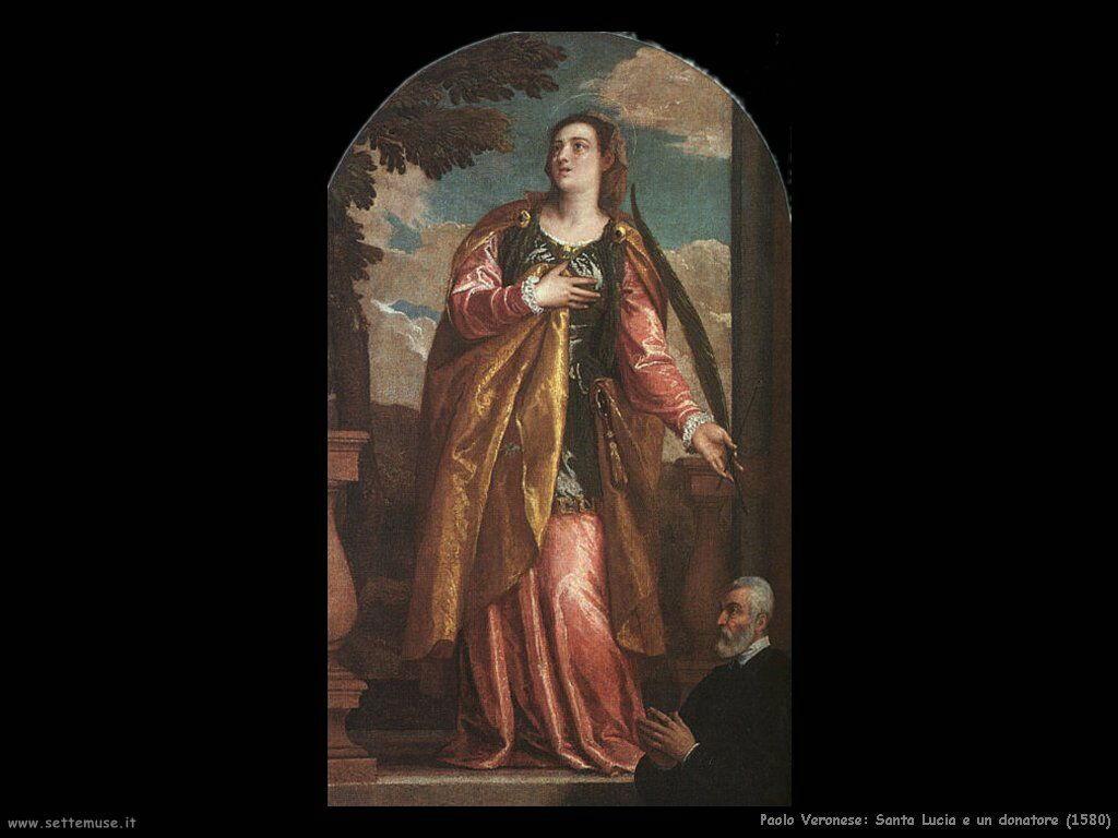 Santa Lucia e un donatore (1580)