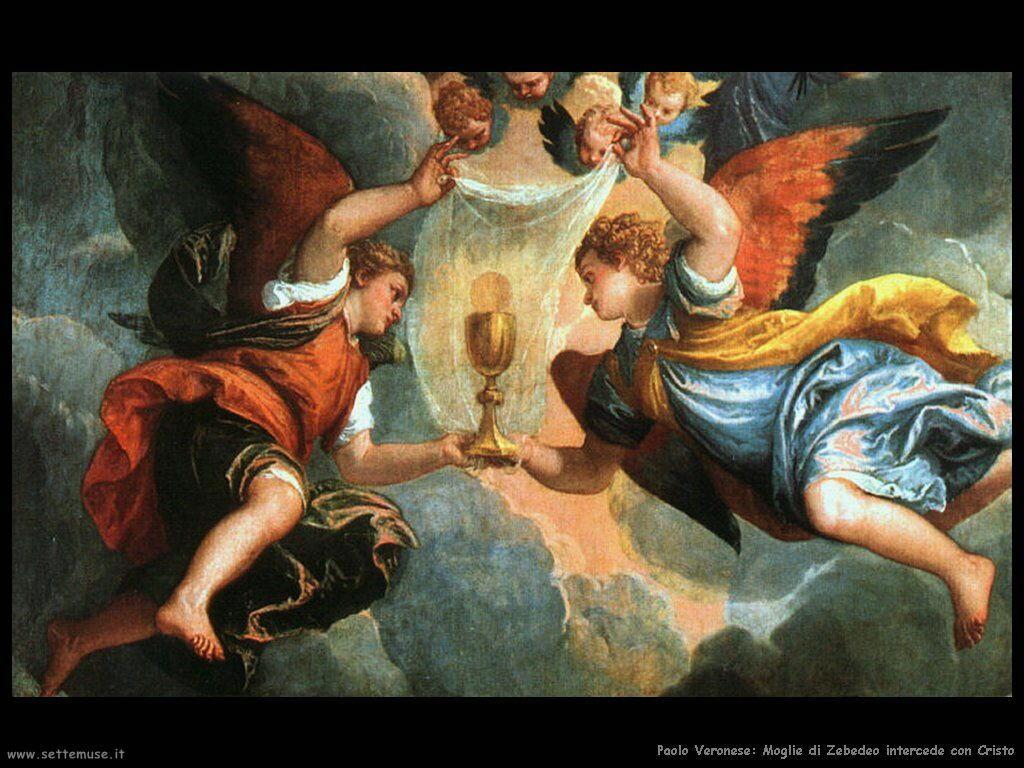Moglie di Zebedeo intercede con Cristo