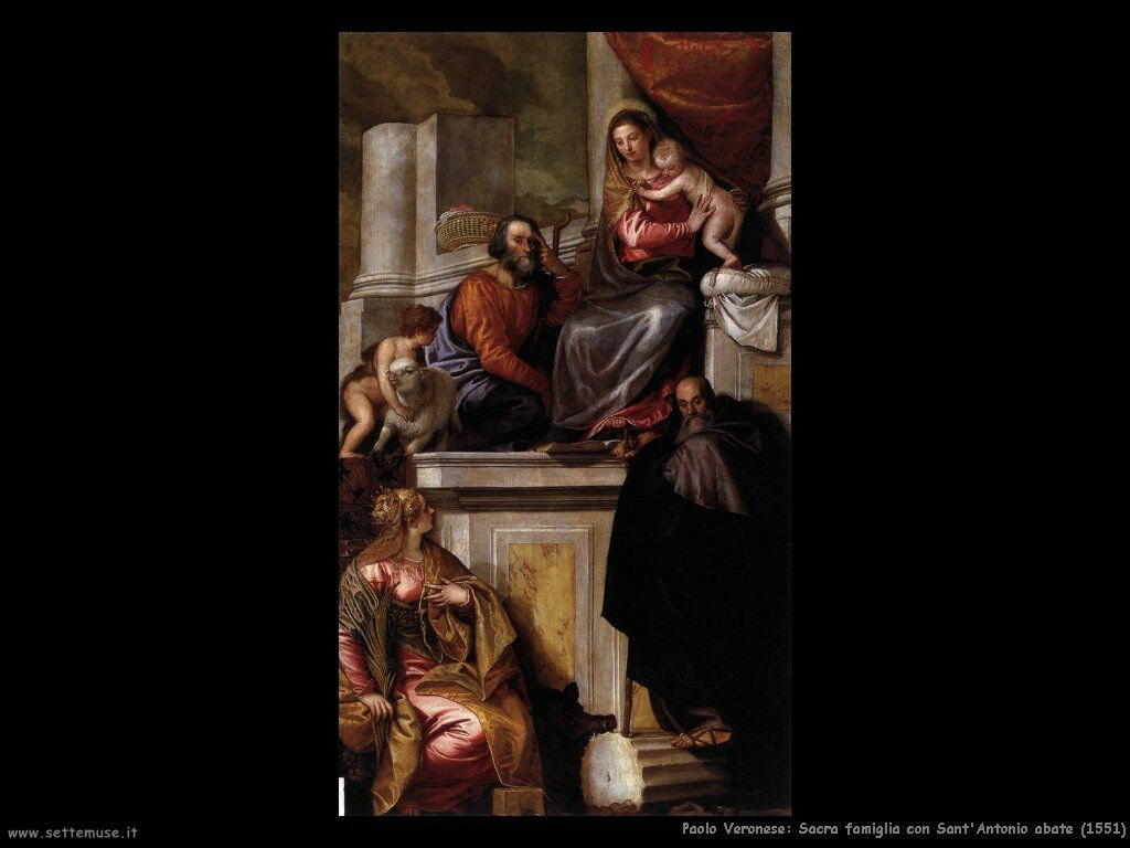 Sacra famiglia con sant'Antonio abate