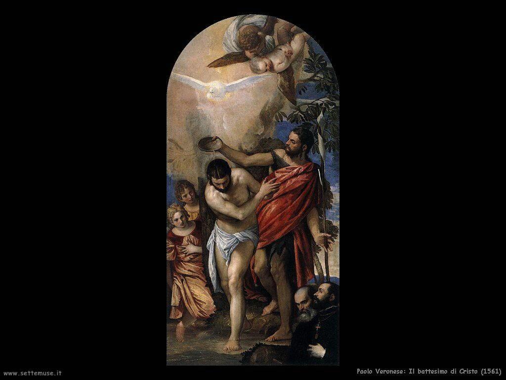 Paolo Veronese Battesimo di Cristo (1561)