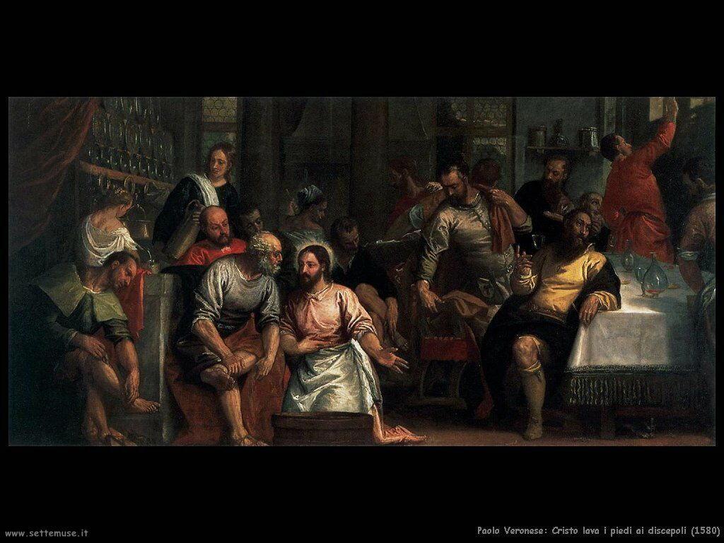Cristo lava i piedi ai discepoli (1580)