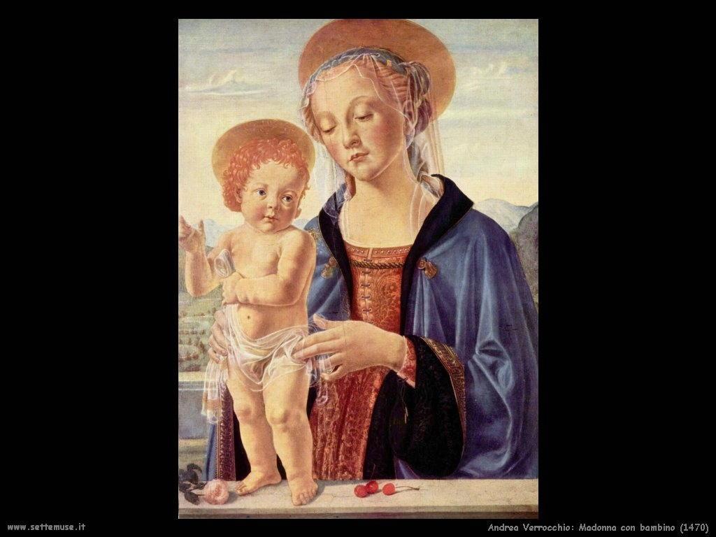 Andrea Verrocchio Madonna con bambino (1470)