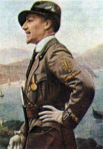 Gabriele D'Annunzio in divisa