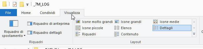 Esplora menu visualizza