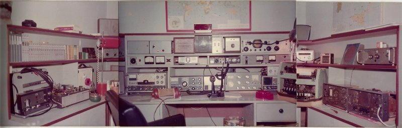 Stazione radio tipica di un radioamatore I2SRO
