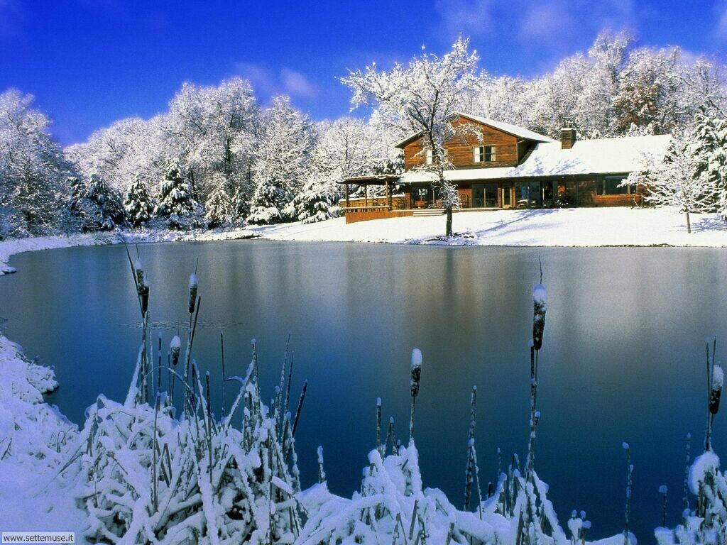 Sfondi inverno neve sciatori foto gratis