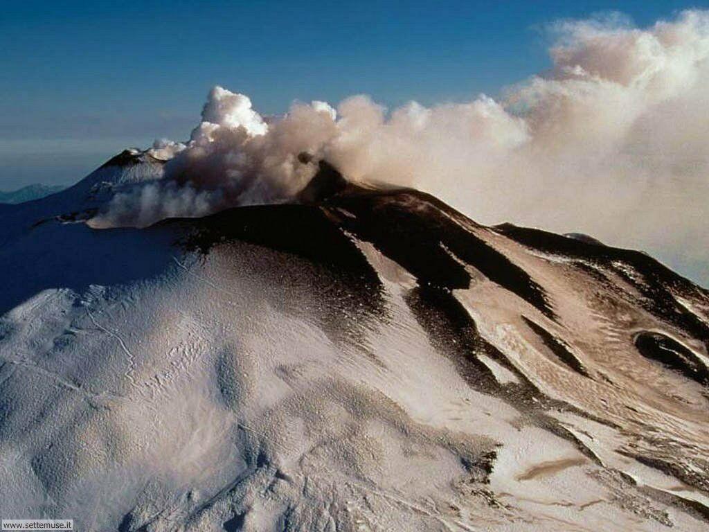 foto di vulcani e crateri per sfondi