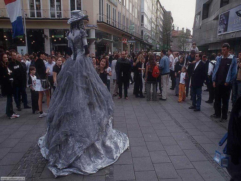 foto di artisti di strada statue umane per sfondi
