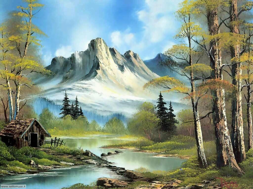 Bob Ross Mountain Landscape Paintings