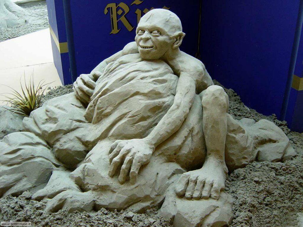Foto sculture di sabbia per sfondi for Sculture di fiori
