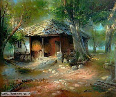 arte e dipinti su ambienti, villaggi, persone