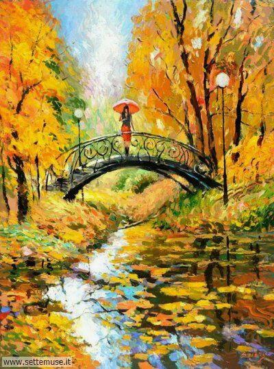 arte e dipinti su foto autunno 06