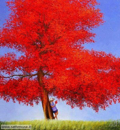 arte e dipinti su foto-autunno-Dima Dmitriev