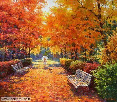 arte e dipinti su foto-autunno-Dmitry Levin 2