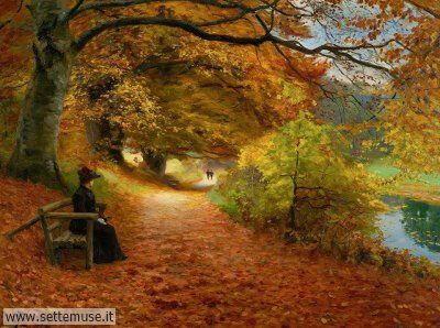 arte e dipinti su foto-autunno Hans Andersen Brendekilde