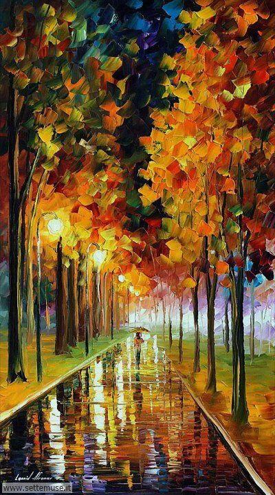 arte e dipinti su foto-autunno Leonid Afremov