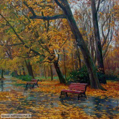 arte e dipinti su foto-autunno Stanislav Brusilov