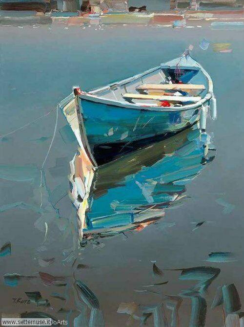 arte e dipinti su foto barche-18