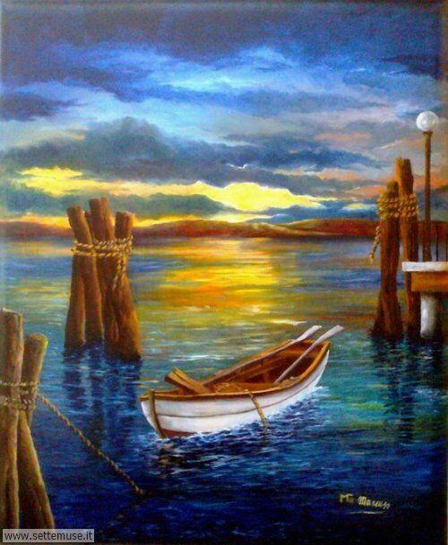arte e dipinti su foto barche-24