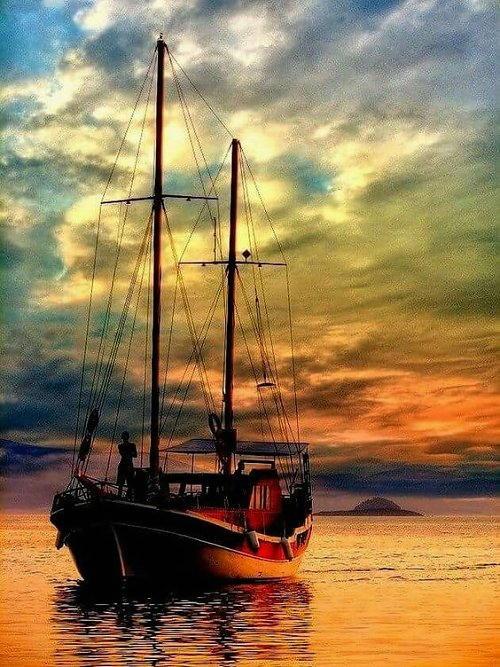 arte e dipinti su foto barche-26