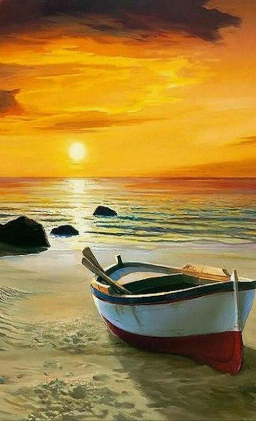 arte e dipinti su foto barche-28