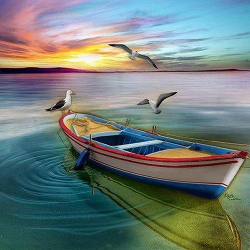 arte e dipinti su foto barche-29