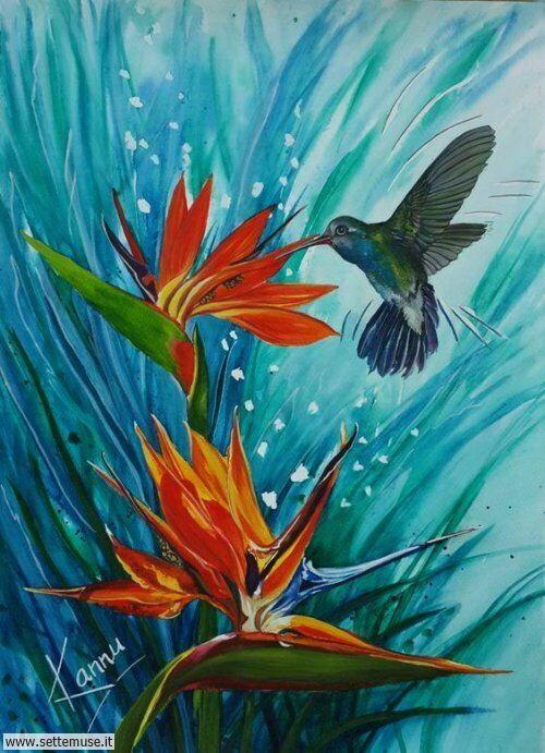 arte e dipinti su foto fiori 01