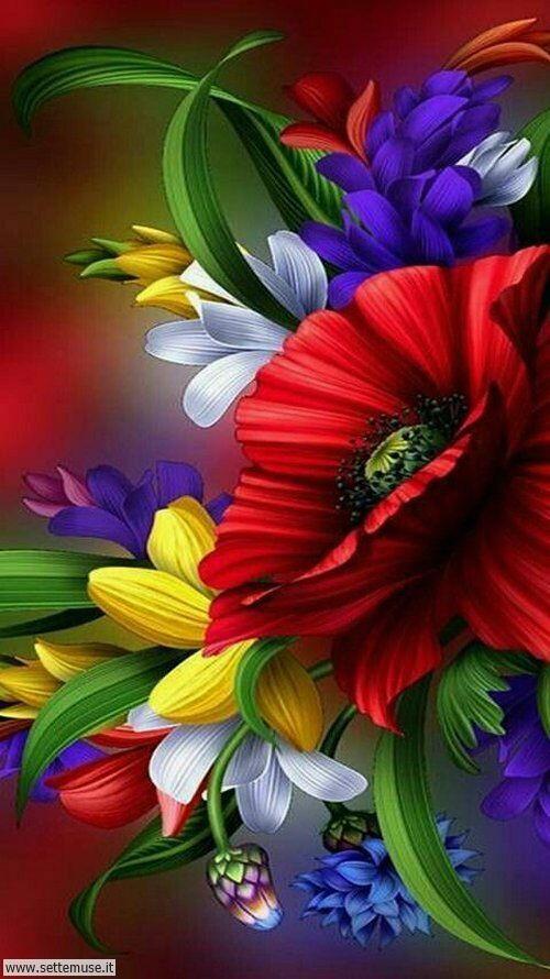 arte e dipinti su foto fiori 02