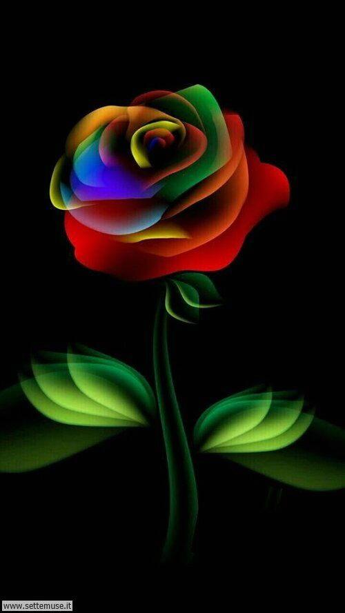 arte e dipinti su foto fiori 03