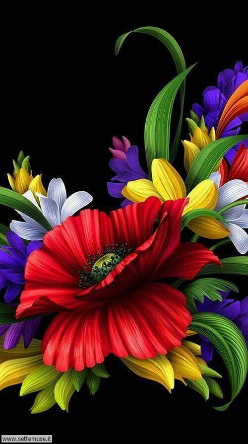 arte e dipinti su foto fiori 07