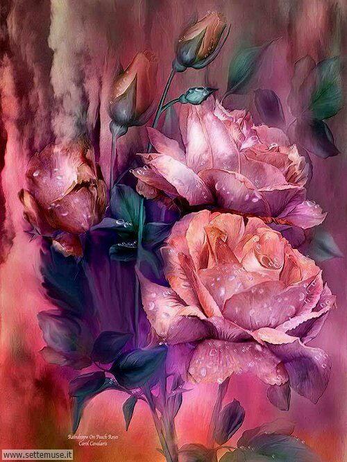 arte e dipinti su foto Carol Cavalaris