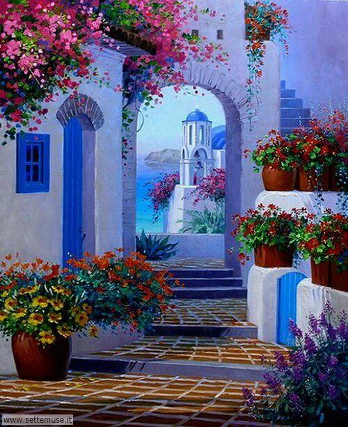arte e dipinti le case di guido borelli