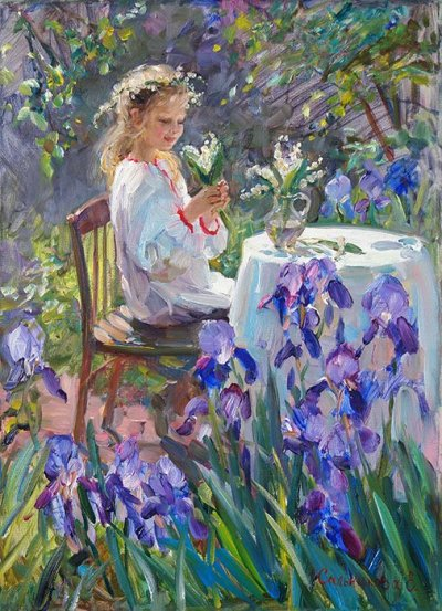 arte e dipinti su mamme-e-bambini-101