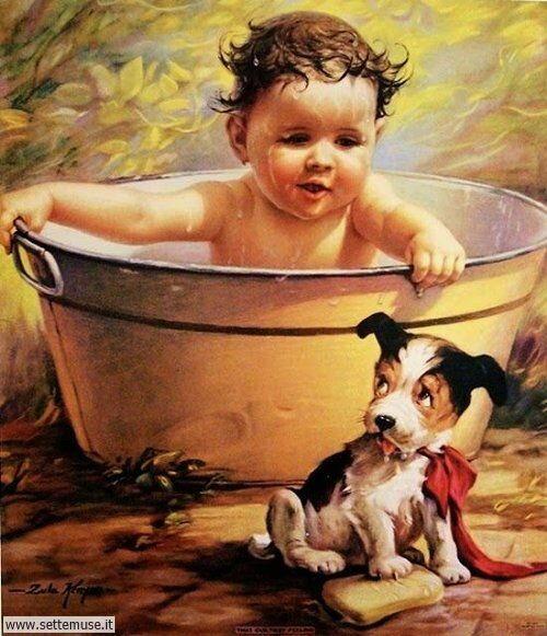 arte e dipinti su mamme-e-bambini-15
